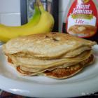 Whole Wheat Banana Pancakes with Walnuts