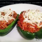 Stuffed Green Bell Pepper Halves