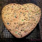 Giant M&M Cookie Heart - Happy Valentine's Day!