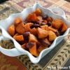 Roasted Cinnamon Almond Sweet Potatoes