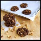 No-Bake Chocolate Coconut Walnut Cookies