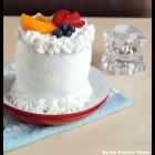 Mini Angel Food Fruit Cake