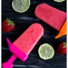 Strawberry Lime Popsicles