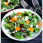 Arugula, Carrot, Cranberry & Goat Cheese Salad