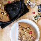 Leftover Halloween Candy Skillet Cookie + Giveaway