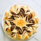 Chocolate Almond Butter Brioche Flower