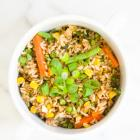 The Easiest Fried Brown Rice