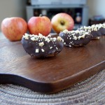 chocolate dipped peanut butter apples