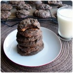 chocolate butterfinger cookies