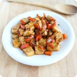 spicy garlic tofu
