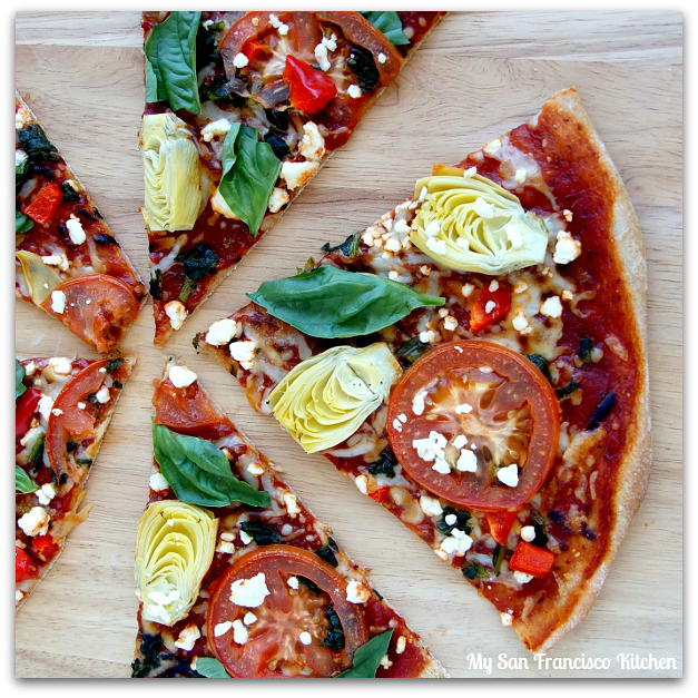Whole Wheat Vegetarian Pizza | My San Francisco Kitchen
