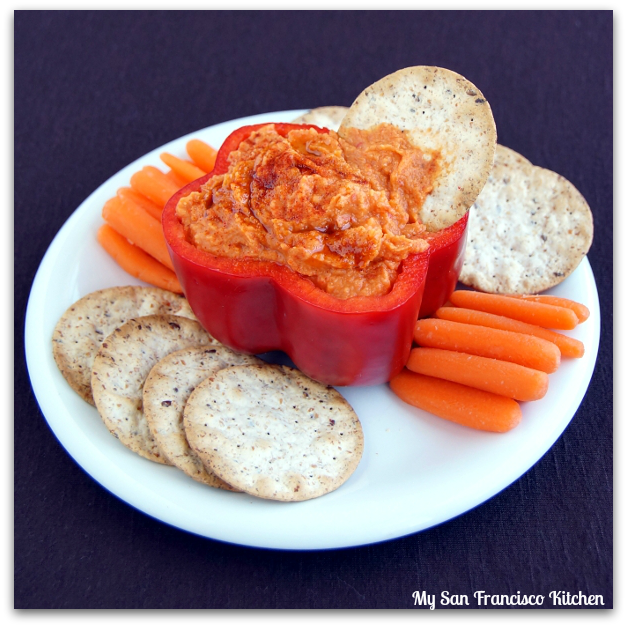 Roasted Red Pepper Hummus | My San Francisco Kitchen