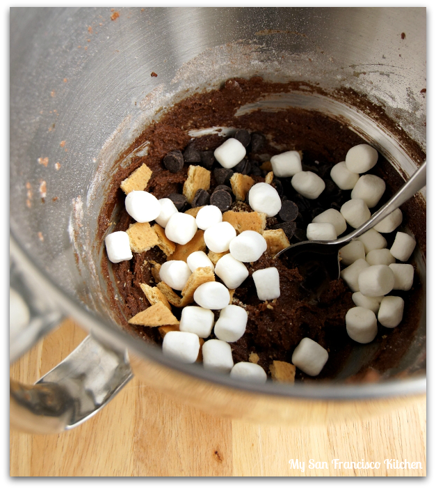 s'more cookie batter