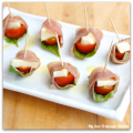 proscuitto-wrapped caprese