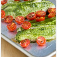 pesto and tomato tilapia