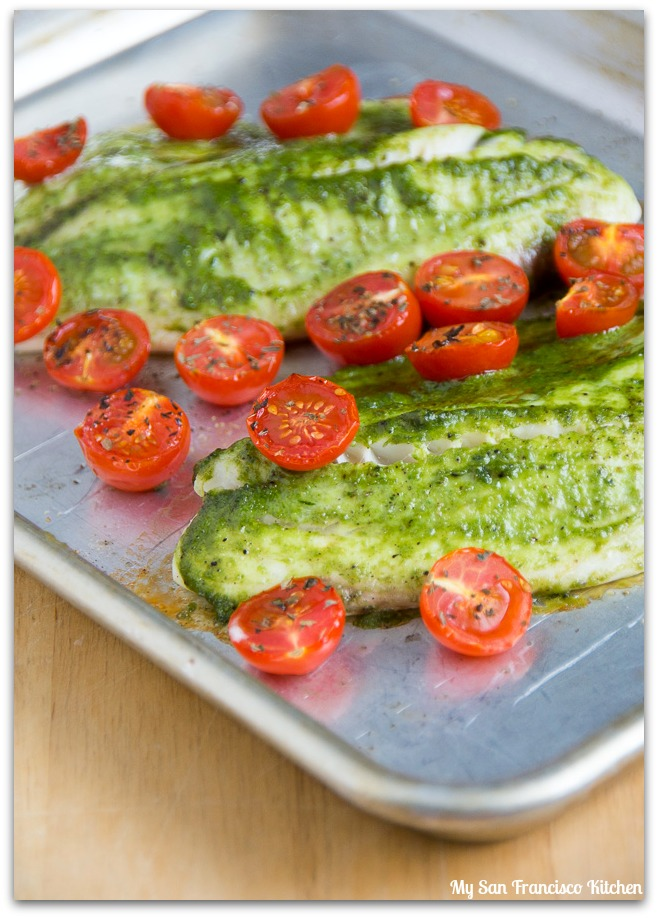 Pesto and Tomato Tilapia | My San Francisco Kitchen