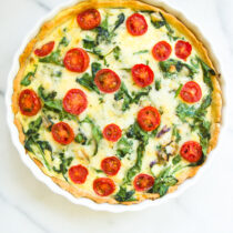 Tomato Spinach Quiche