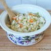 Carrot & Celery Rice with Sliced Almonds
