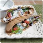 Grilled Chicken Pita with Cucumber Yogurt Dressing