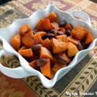 Roasted Cinnamon Almond Sweet Potatoes