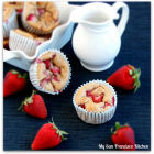 Low-Fat Strawberry Banana Muffins