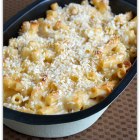 Baked Light White Cheddar Pasta