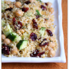 Bulgur with Chickpeas, Cranberries, and Cucumber