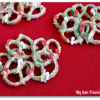 White Chocolate Pretzel Wreaths
