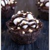 Mini Rocky Road Brownie Cups