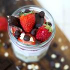 Dark Chocolate Strawberry Overnight Oats