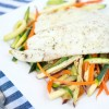 Dill Havarti Tilapia and Vegetable Sticks