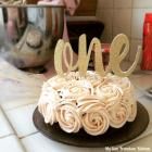 First Birthday Rosette Smash Cake