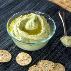 Easy Garlic Spinach Hummus