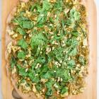 Pesto Chicken Arugula Flatbread