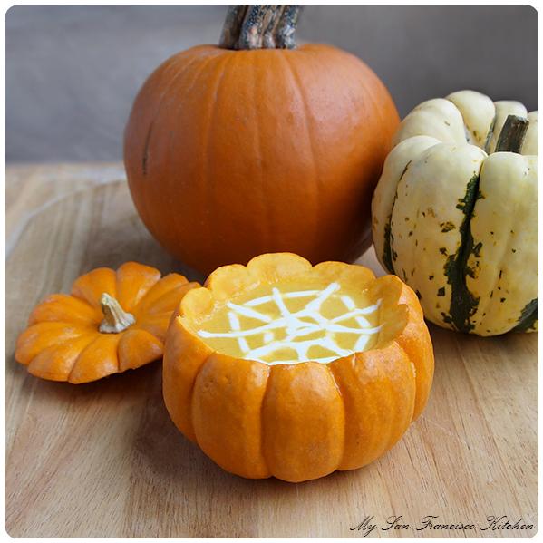 pumpkin soup spider web
