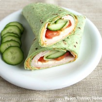 turkey spinach wrap