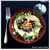 Pear walnut salad