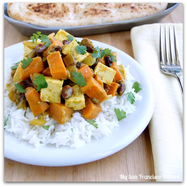 curried sweet potatoes