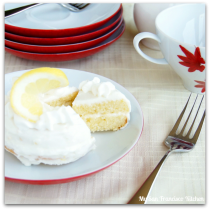 mini lemon cake slice