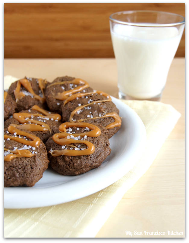 salted chocolate caramel cookies