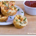 tomato basil pizza puffs