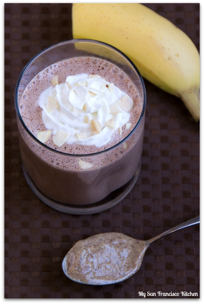 cocoa almond butter smoothie