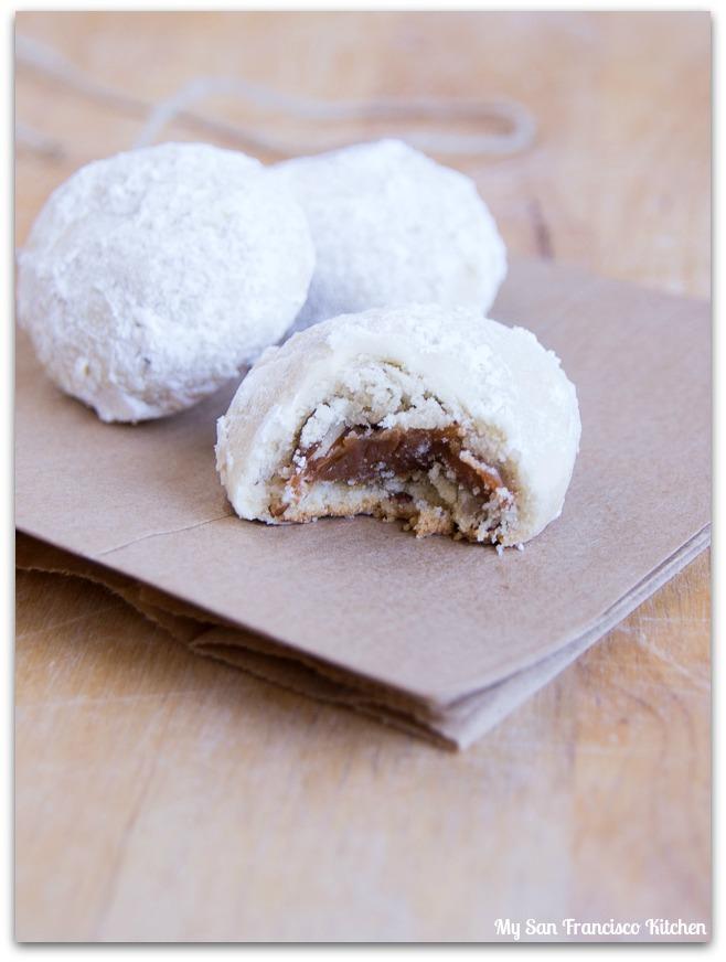 Snowball Caramel Surprise Cookies