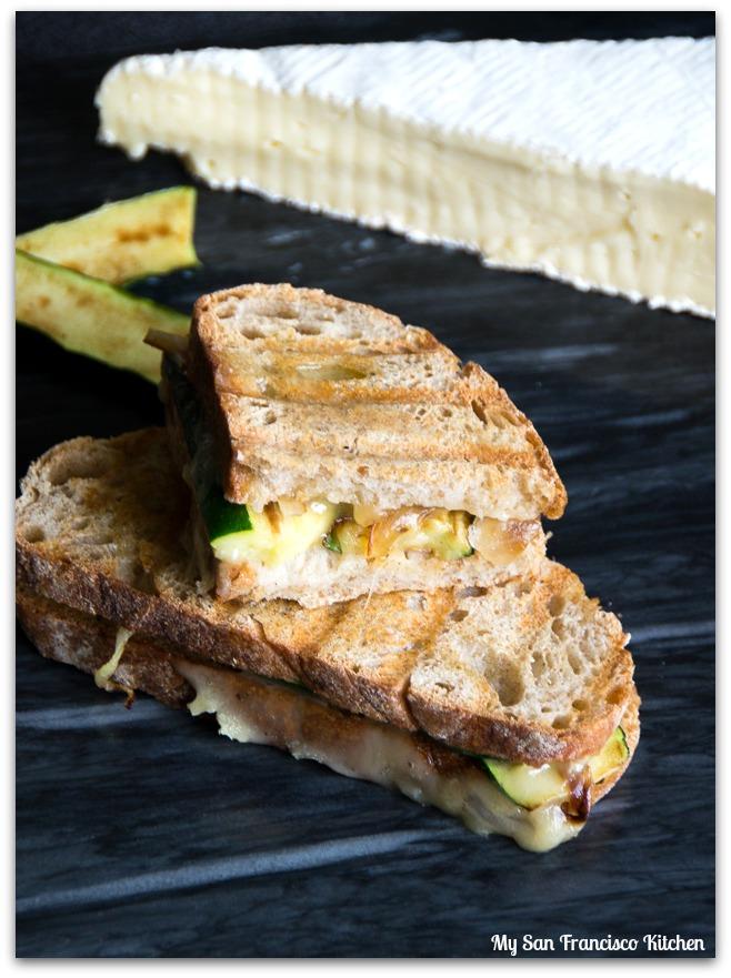 zucchini brie onion panini