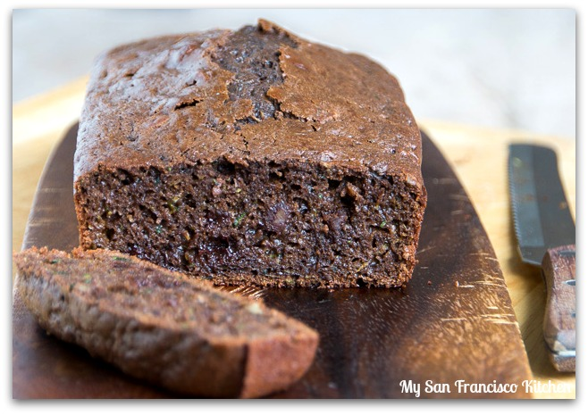 chocolate zucchini bread sliced