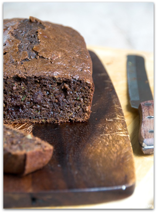 chocolate zucchini bread side