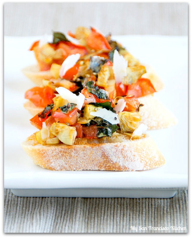 overloaded bruschetta