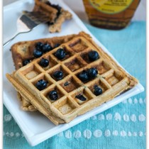 cinnamon blueberry waffles