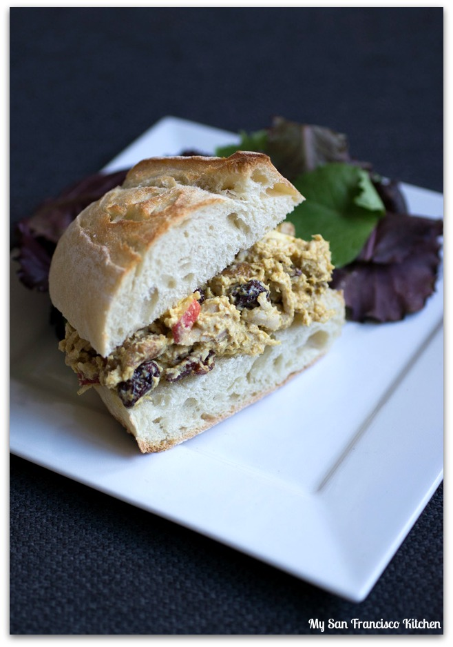 curried chicken sandwich