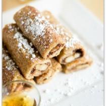 Banana Nutella French Toast Roll-ups